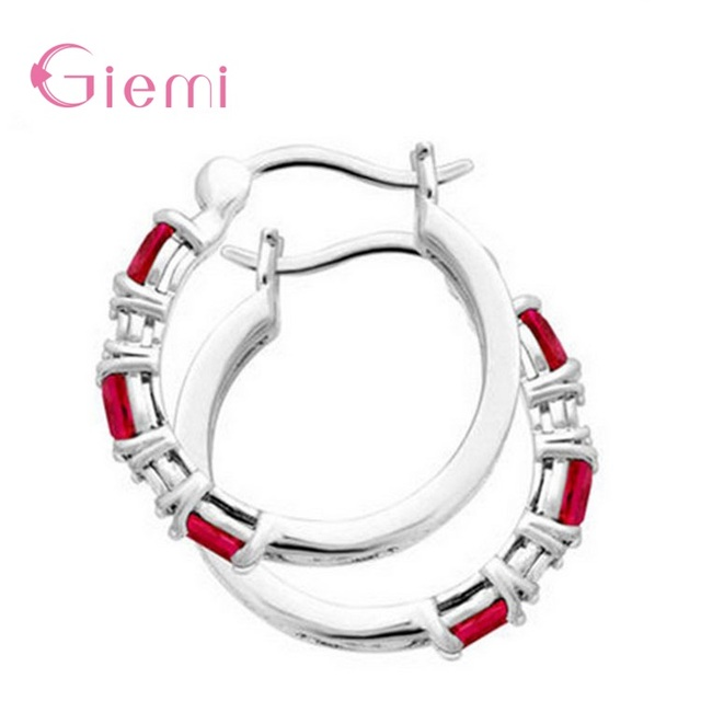 Hot Sale Trendy 925 Sterling Silver Pretty Red Crystals Hoop Earrings For Women Girls Fashion Jewelry.jpg 640x640 - Hot Sale Trendy 925 Sterling Silver Pretty Red Crystals Hoop Earrings For Women Girls Fashion Jewelry Party Birthday Gifts