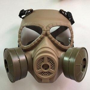 Image 2 - כל פנים ציור ריסוס respirator גז מסכת להגן על אבק מסכת לבטיחות עבודה מסנן ריתוך ספריי מגן אנטי זיהום