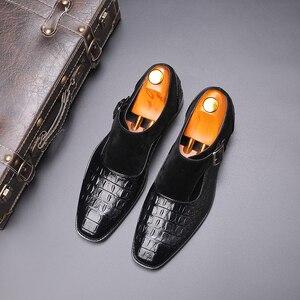 Image 4 - 2020 בעבודת יד עור אבזמי גברים של שמלת נעלי עסקי נעלי אוקספורד פורמליות חתונה משרד גבר נעלי הנעלה לנשימה