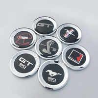 Okrągłe 3D Cobra wzór konia ogon samochód godło ABS odznaka naklejka na Forda Mustang 2010 GT 500 lat ROUSH LAGUNA SECA