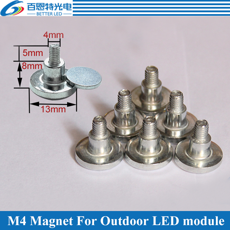 50pcs/lot M4 Cylinder Magnet For Outdoor LED Display Module
