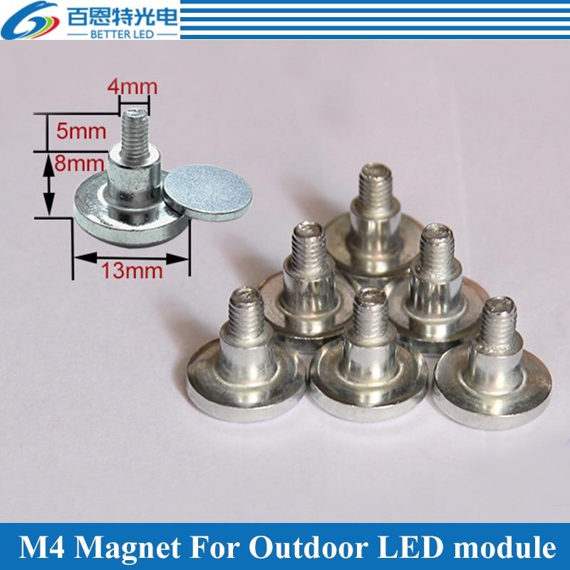 50pcs/lot M4 Cylinder Magnet For Outdoor LED Display Module