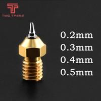 Boquilla de latón E3D V5 V6, rosca de M6, 0,2/0,3/0,4/0,5mm, puntas de acero inoxidable extraíbles para filtro de 1,75mm, novedad