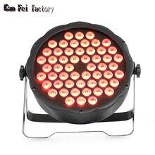 Par Led RGB Mini etap liry umyć oświetlenia wysokiej jakości reflektor Led Flat Par 54X3W dla tej lampy Disco ślub etap Bar boże narodzenie