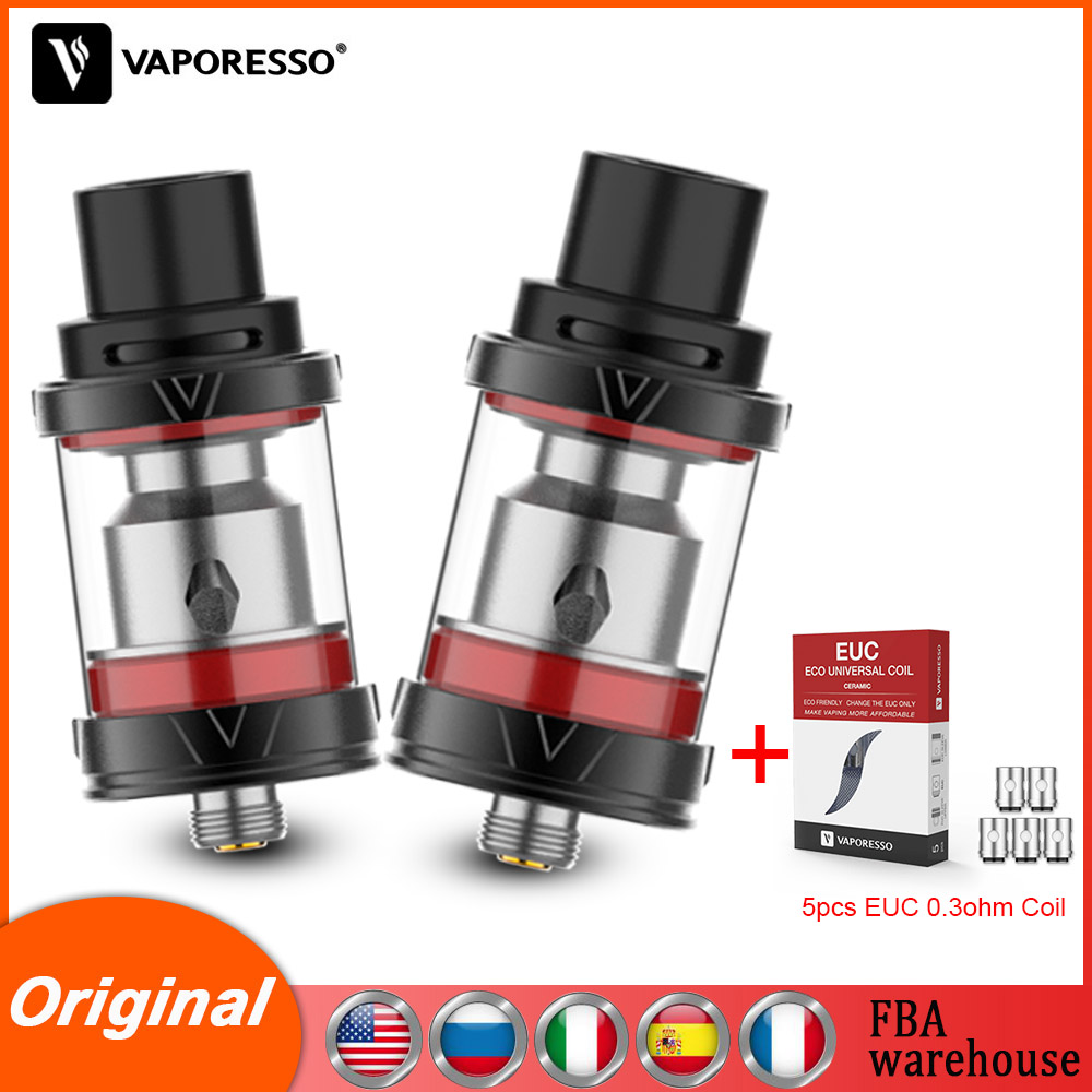 Original Vaporesso VECO Plus Tank 2/4ml Top Fill Atomizer EUC Coil Core For Vape Veco Solo One Plus 510 Electronic Cigarette Kit