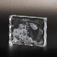 Crystal friend Photo Frame Customized Glass Laser Engraved Family Picture Frames DIY Wedding Photo Album For Gifts