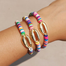 Artilady Multicolor Friendship Bracelets Shell Charm Bracelet Tassel Boho Rope Women Jewelry Gift Drop Shipping(China)