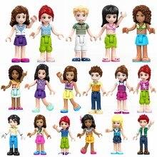 8 conjuntos de menina amigos mia olivia emma andrea martina stephanie celebração figura blocos construção brinquedos para crianças