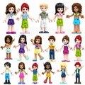 8 комплектов, девочка Миа Оливия Эмма Андреа Мартина праздник Стефани, сборный персонаж, строительные игрушки для детей