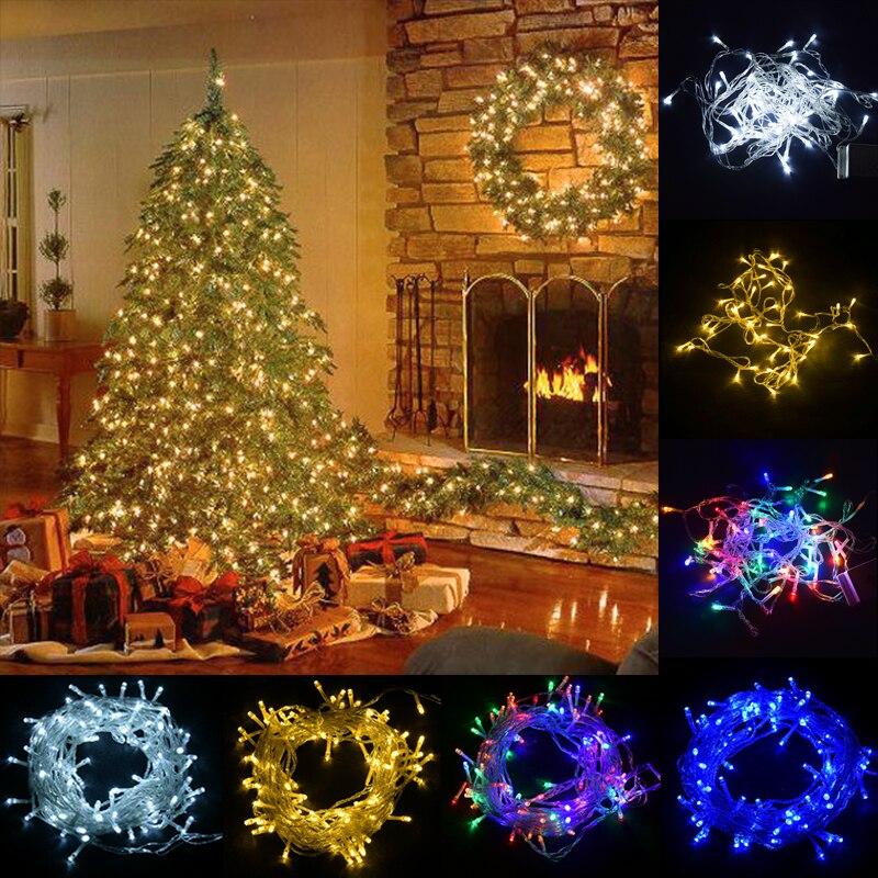 Led Outdoor Christmas Decoration Lights 5m 10m 50m 100m 220v 230v 240v String Lights Holiday Decorations For Home