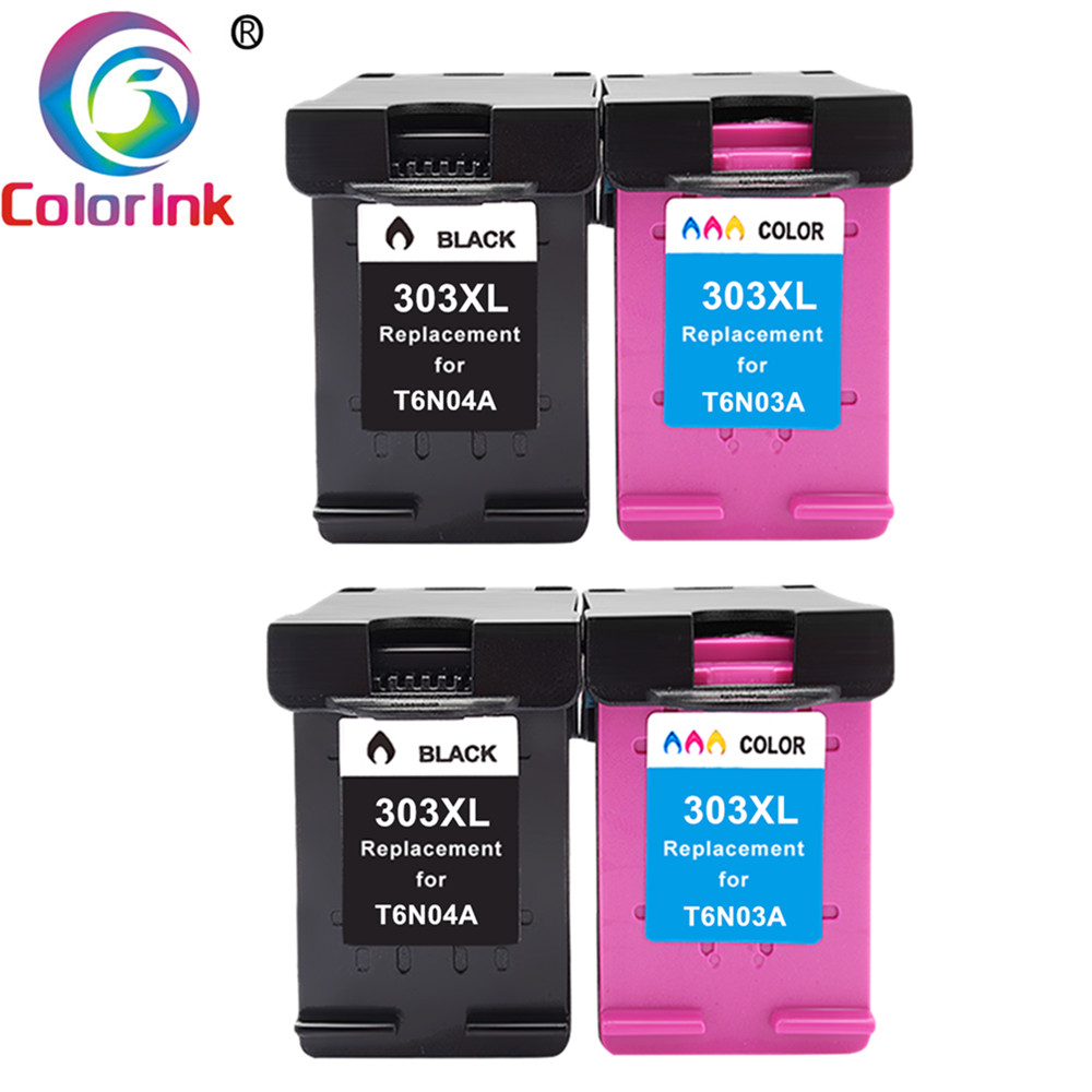 ColoInk 303XL Заправляемый картридж Замена для HP 303 XL для HP ENVY фото 6020 6030 7130 7134 7830 принтер