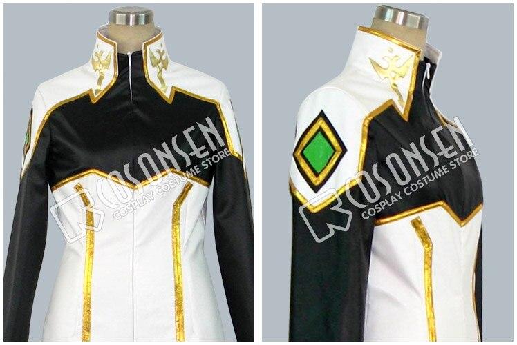 Anime Code Geass chevalier de sept Cosplay Costume blanc noir combinaisons de combat uniforme ensemble complet pour unisexe personnalisé faire n'importe quelle taille - 3