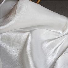 Высокая конец Мерсеризованный шелковой атласной ткани белый