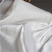 High-end Mercerized Silk Satin Fabric White DIY Decor Pajamas Shirt Kungfu Suit Cheongsam Bridal Evening Dress Designer Fabric