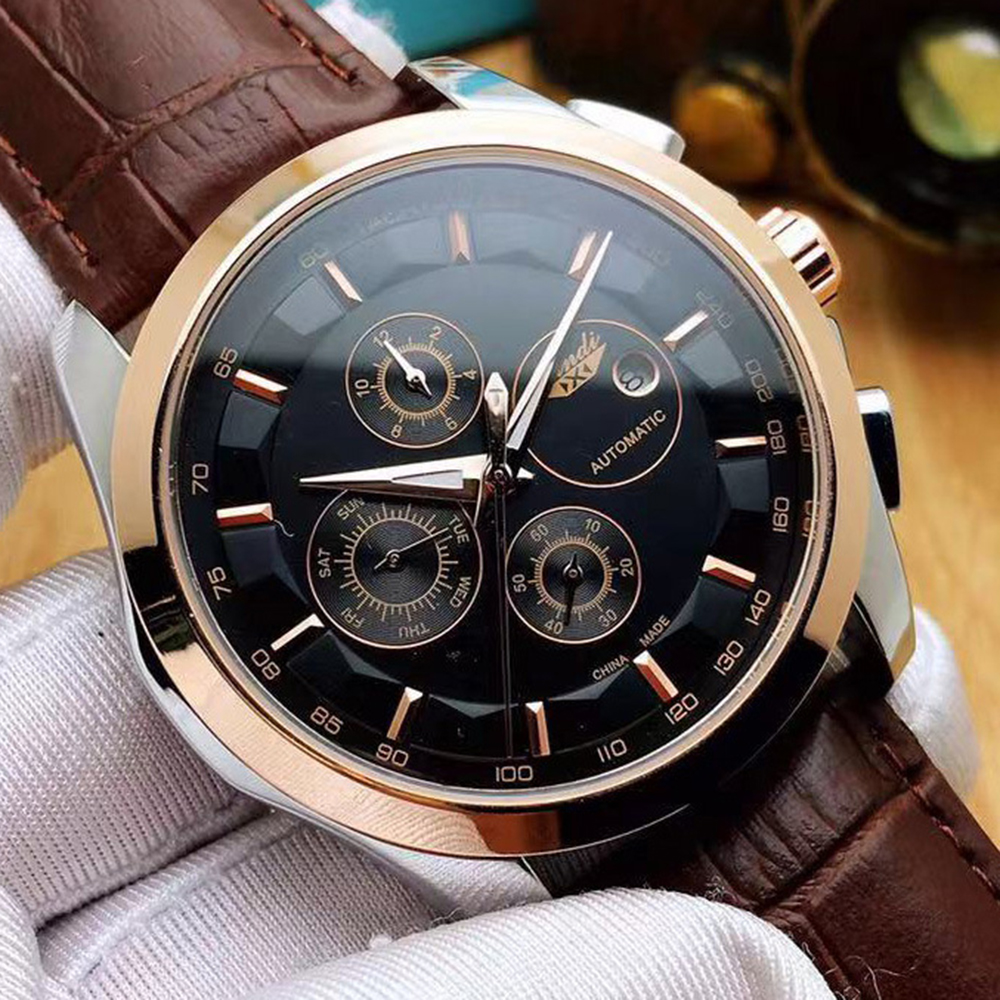 Mechanical Watch Men Automatic Top Brand Luxury Wristwatches Mens Fashion Stainless Steel Luminous Date Week Watch Mens New 2020