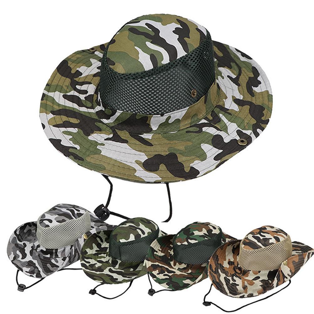 Unisex Bucket Hats Outdoor Jungle Hiking Camouflage Bob Camo Bonnie Hat @@