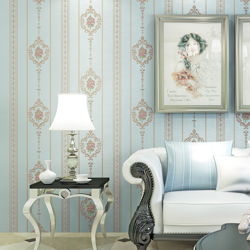 Special Offer European Countryside Bedroom Living Room Wallpaper 3D Coining Beauty Salon Nail Salons Non-woven Wallpaper