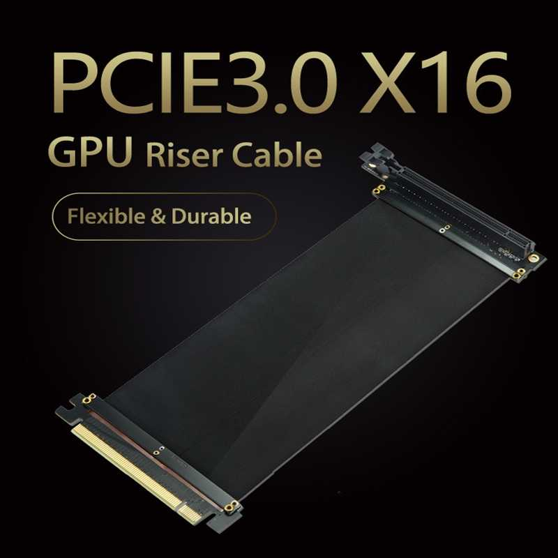 GPU Riser Cable PCIE16x GAME VGA Graphics Card Vertical Conversion ...