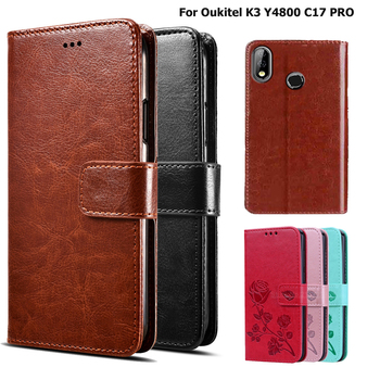 Перейти на Алиэкспресс и купить Для Oukitel Y4800 3D Oukitel K3 шаблон флип чехол для телефона для Oukitel C17 PRO Высококачественный pu кожаный держатель для телефона кошелек чехол для телеф...