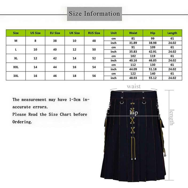 MJARTORIA 2020 nueva utilidad Kilt Hybrid Jeans Kilt para hombres tradicional escocés Retro diseño Vintage falda