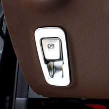car styling auto head front bumper sequins decoration cover sticker trim for mercedes benz e class sport w213 auto accessories ABS Chrome For Mercedes Benz E Class 2016 2017 2018 Accessories Auto Hand Parking Brake Panel Cover Trim Car Styling