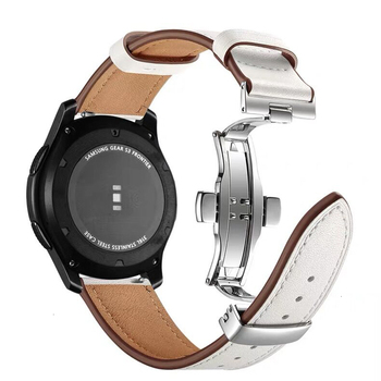 22mm Genuine Leather Wrist Strap for Samsung Gear S3 Frontier Huawei Xiaomi Amazfit Watch Band loop Replacement Classic Bracelet