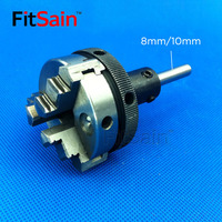 FitSain-Three jaw chuck D=50mm CNC mini SELF-CENTING maiually operated chuck Bench Lathe part shaft diameter 8mm/10mm/12mm/14mm