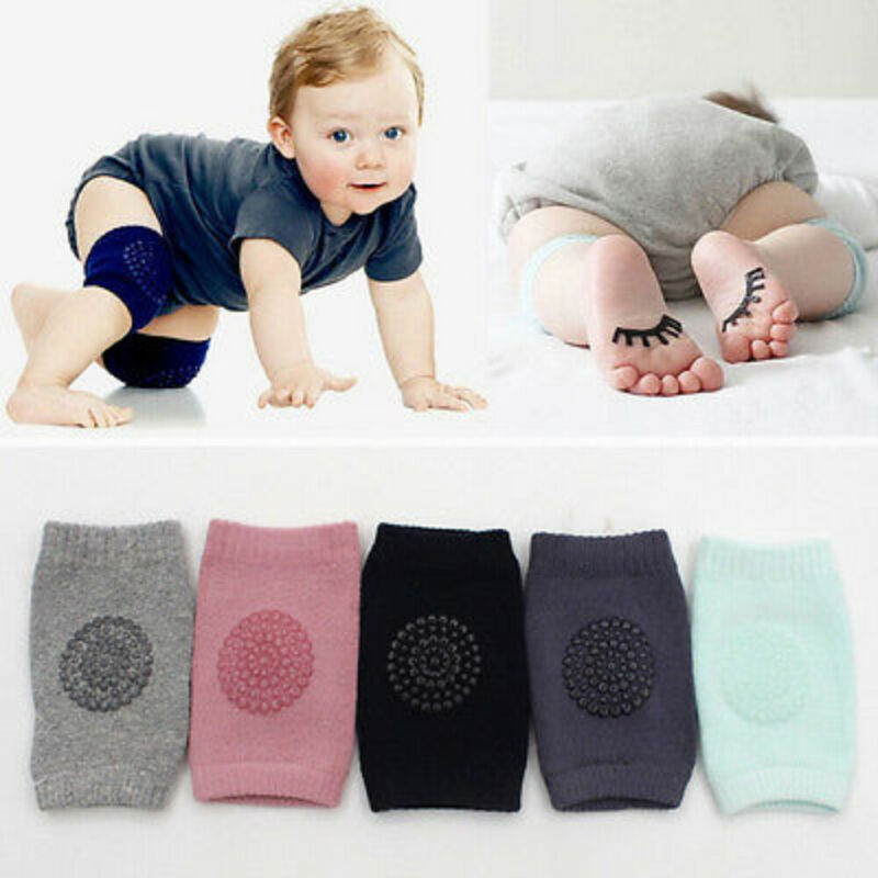 1Pair Baby Infants Safety Soft Anti-slip Elbow Crawling Knee Breathable Warmer Protector Accessory