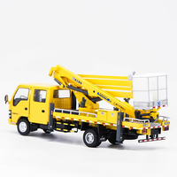 1/35 Crane Folding Arm Cranes Ascending Machines Engineering Vehicles Metal Toys Diecast Alloy Cars kid Collections Artwork show