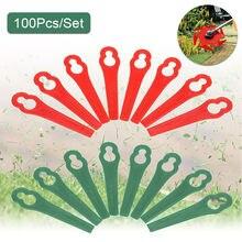 100 шт пластиковые лезвия для стрижки травы сменные газонокосилки