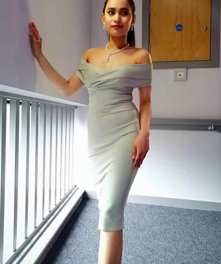 2019 여름 드레스 여성 섹시한 패션 오프 어깨 붕대 드레스 숙녀 연예인 파티 드레스 Vestido