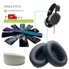 NULLKEAI החלפת Earpads בגימור עבור SteelSeries Arctis 5 3 אוזניות Earmuff כיסוי כרית כוסות