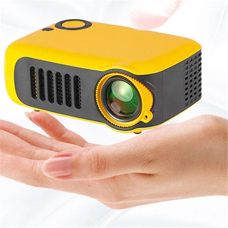 A2000 2 pouces Mini projecteur enfants jouet cadeau projecteur 1000LUMENS 320x240 P Support 1080P HDMI TF carte EU Plug projecteur
