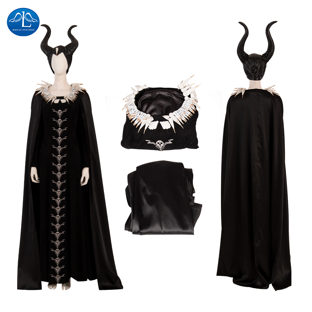 Maleficent Cosplay Costume Mistress Of Evil Costumes Wing Mask Suit Angelina Jolie Halloween Clothing Headwear Custome Made