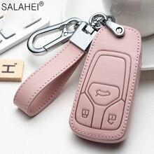 Leder Auto Schlüssel Fall Abdeckung Für Audi A1 A4 A5 A6 A7 A8 B6 B7 B8 B9 TT TTS 8S SQ5 A4L A6L Q3 Q5 Q7 S5 S6 S7 Schutz Zubehör