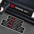 2021 Карбон волокно защита порога автомобильной двери Стикеры для Защитные чехлы для сидений, сшитые специально для Toyota Corolla Yaris Rav4 Avensis Auris Camry ...