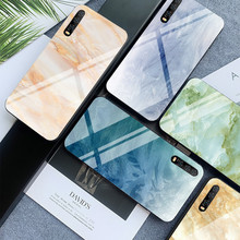 Colorful Marble Phone Case for Huawei P30 P20 Lite Shookproof Tempered Glass Mate 20 Honor 9 10 8X MAX Nova 3