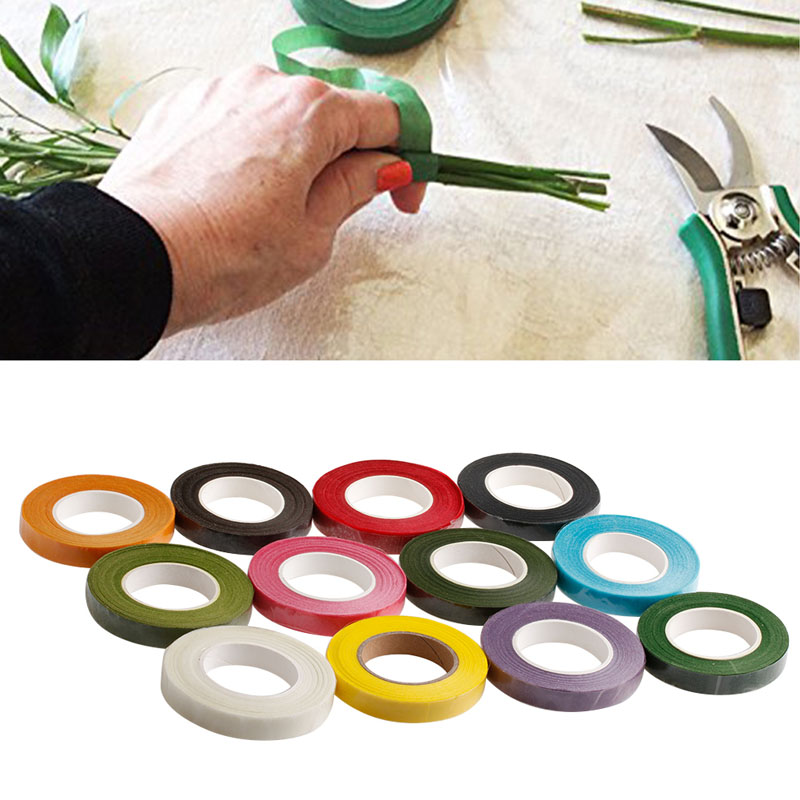 Florist Stem Tape - Wire Floral Work - Buttonholes Craft Floristry Green