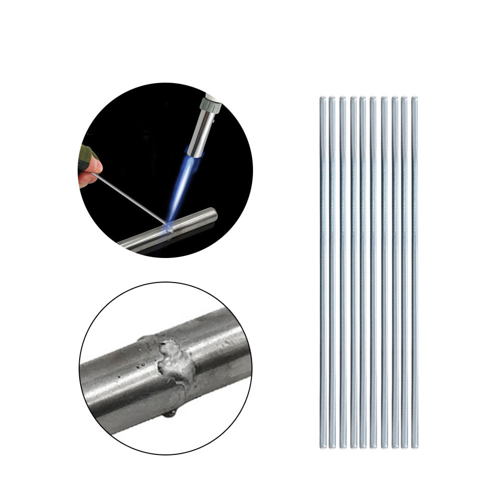 10Pcs/Set Low Temperature Easy Melt Aluminum Welding Rods Weld Bars Cored Wire Rod For Soldering Aluminum No Need Solder Powder