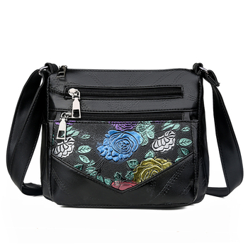 Women Small Bags Genuine Leather Shoulder Bags  For Ladies Crossbody Bags Luxury Designer Female Printed Flowers Handbag  New ly shark women bag ladies genuine leather handbag shoulder female crossbody bags for women luxury handbags women bags designer
