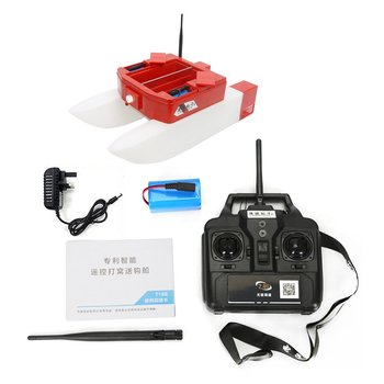 T1688 RC barco de pesca inteligente inalámbrico pesca eléctrica cebo de Control remoto barco cuatro almacén Barco de juguete regalos para niños