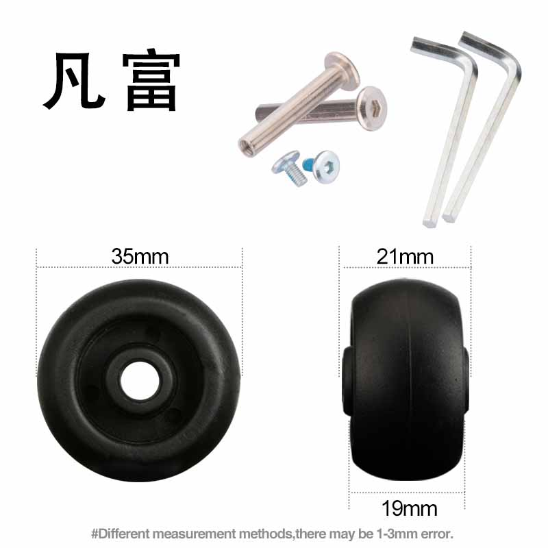 Luggage Repair  Accessories Baggage  Wheels Replacement Accessories Trunk Suitcase  Flexible Rotation 360 Casters New  Wheels