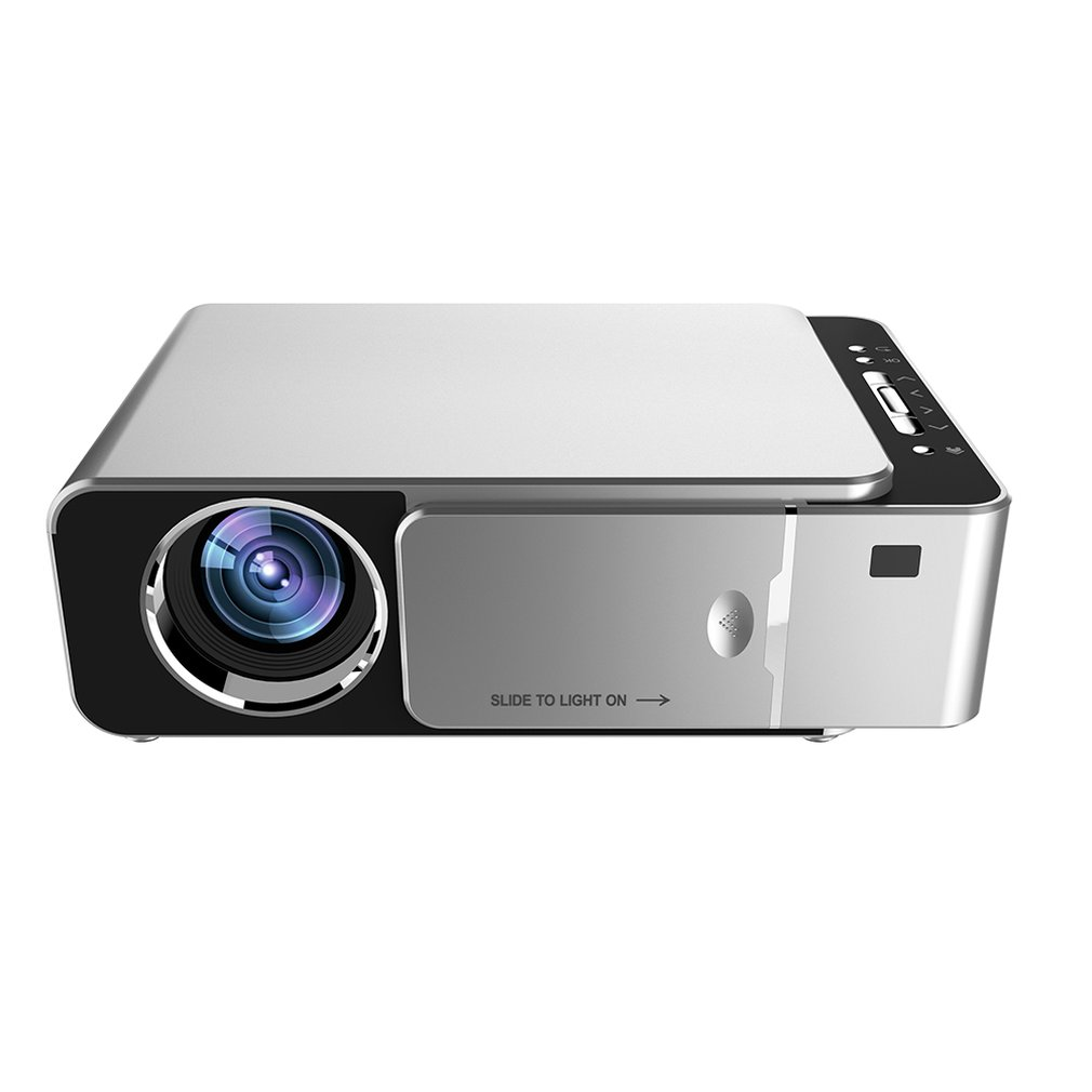 T6 Portable Hd Projector With On Screen Function Wifi Mirroring Screen Led Projector 1080P 5000Lm Ss or US|  - title=