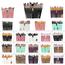 Makeup Brushes Set 20PCS/Lot For Foundation Powder Blush Eyeshadow Concealer Lip Eye Make Up Brush Luxury Cosmetics Beauty Tools 10pcs makeup brushes set foundation powder blush eyeshadow concealer lip eye make up brush cosmetics beauty tools
