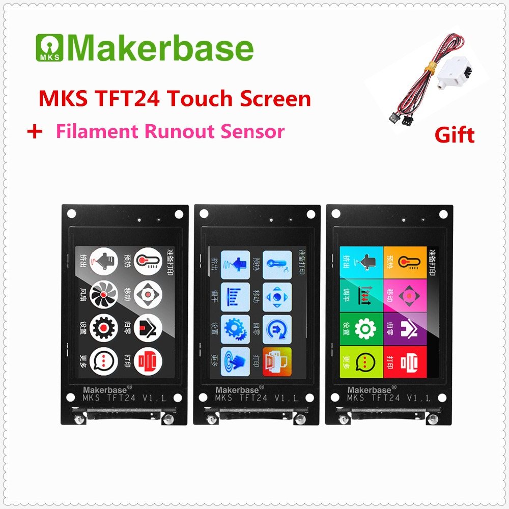 3d Printer Elements MKS TFT24 Touch Screen V1.1 Rep Rap LCD Unit Controller Full Color Display SainSmart Splash Screen Monitor