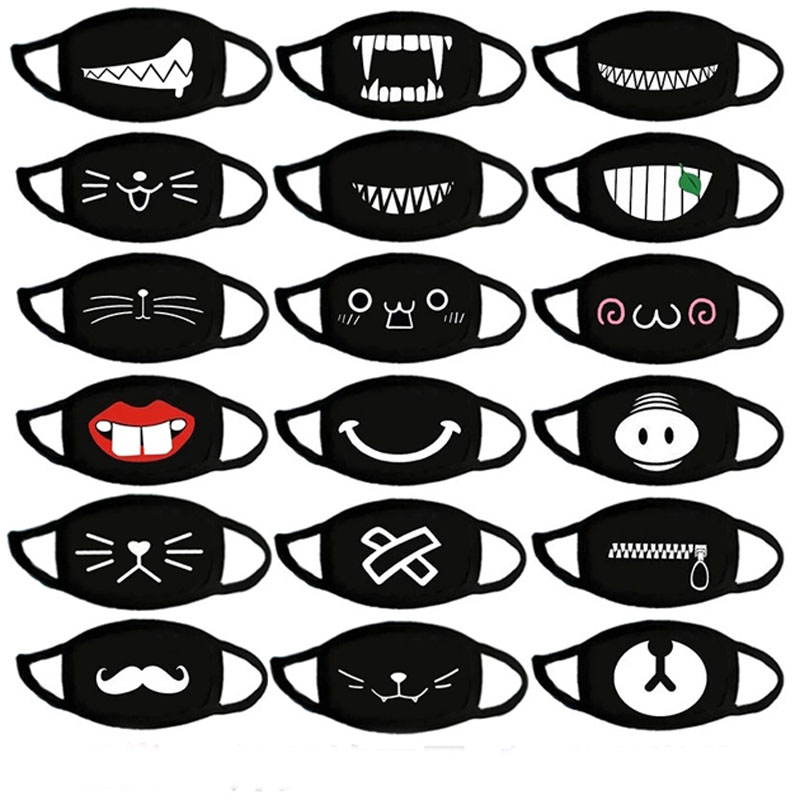 Anime Funny And Cute Expression Mask Women Men Cosplay Halloween Decoration