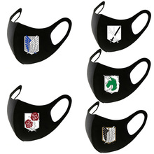 Fashion Anime Attack on Titan Cosplay Masks Accessories Scouting Legion Teens Men Woman Cotton Black Half Face Breathable Mask