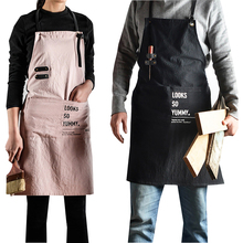 Senyue Korean apron fashion mens and womens household kitchen cute cotton art students special drawing belt