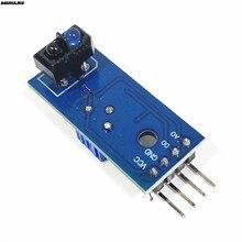 Tcrt5000 infravermelho reflexivo ir interruptor fotoelétrico barreira linha pista sensor módulo azul