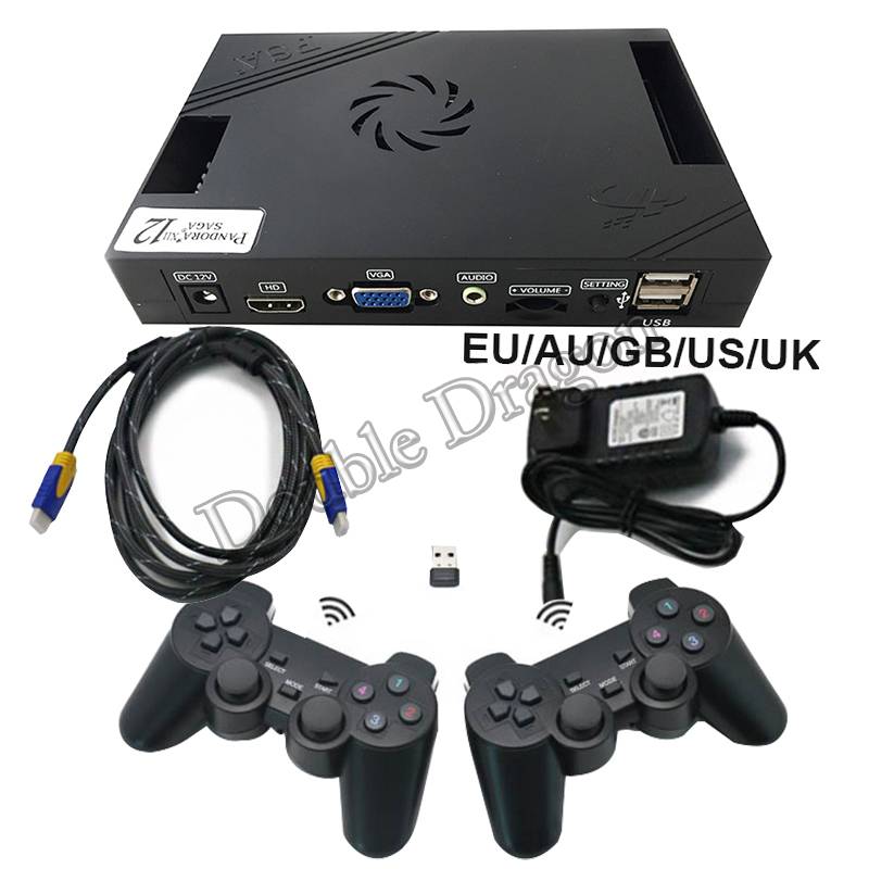 Pandora Box 12 XII 3188 In 1 Arcade Wired & Wireless USB Gamepad Set With 53pcs 3D Games To VGA HDMI TV/ Lcd Screen/ Computer